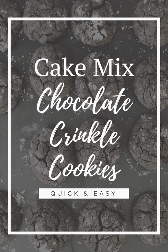 Quick and Easy Cake Mix Crinkle Cookies